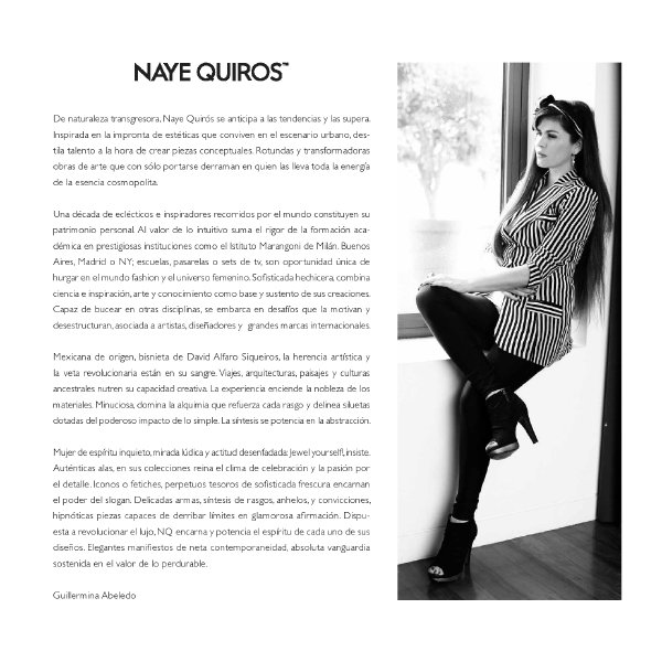 catalogue Naye Quiros